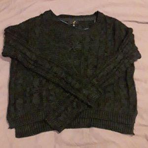 BNOT green/black cropped sweater